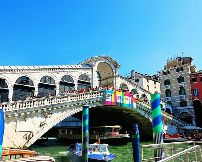 Venice Photos - The Venice Rialto Bridge