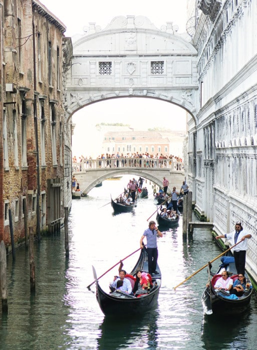 Attractions in Venice - The Bridge of Sighs