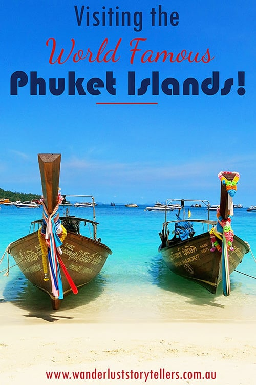 Visiting famous Phuket Islands on a speedboat Phi Phi Island Tour! Click to read more stories from Phuket and Thailand on our blog!