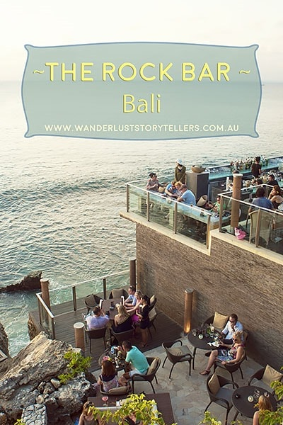 One of the top 30 hotel bars in the world! The Rock Bar Bali
