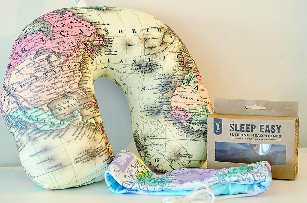 Travel Essentials - Neck Pillow and Headphones - Wanderlust Storytellers