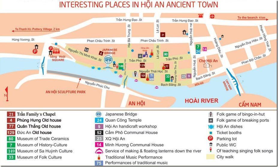 Hoi An Old Town Map - Hoi An Ancient Town Map
