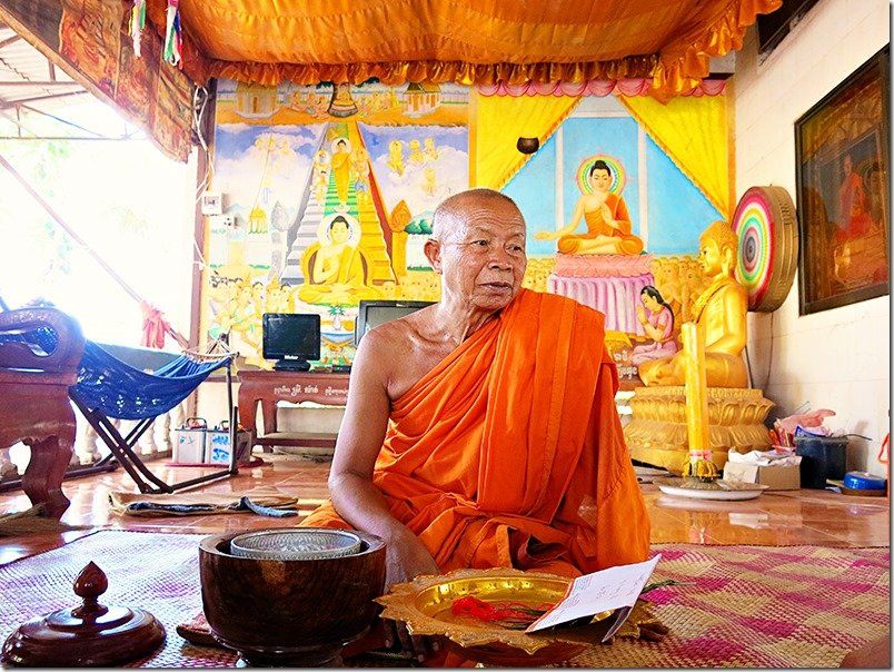 Cambodia Tours - Monk Blessing 2