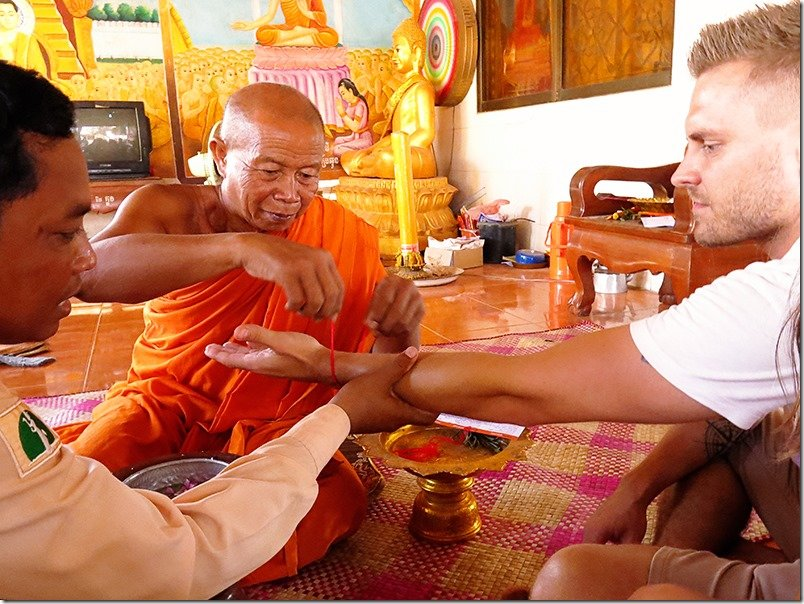 Cambodia Tours - Monk Blessing