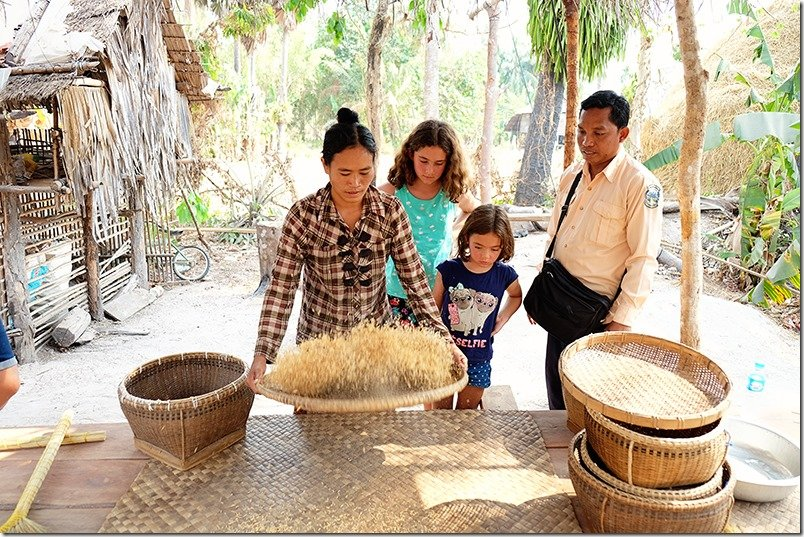 Cambodia Tours: Rice Processing and Preparation 3