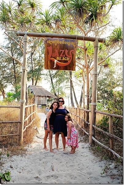 Entrance to Lazy Beach and Koh Rong Samloem Island