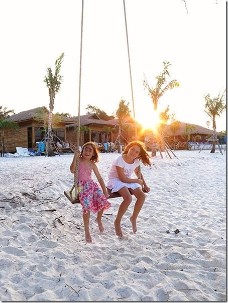 Koh Rong Samloem Island Sunset Swing