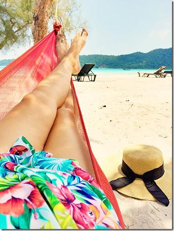 Relaxing on Koh Rong Samloem Island