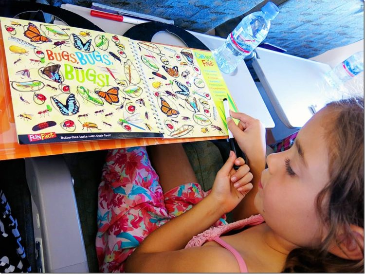 Games for kids on the plane - Flying with Kids