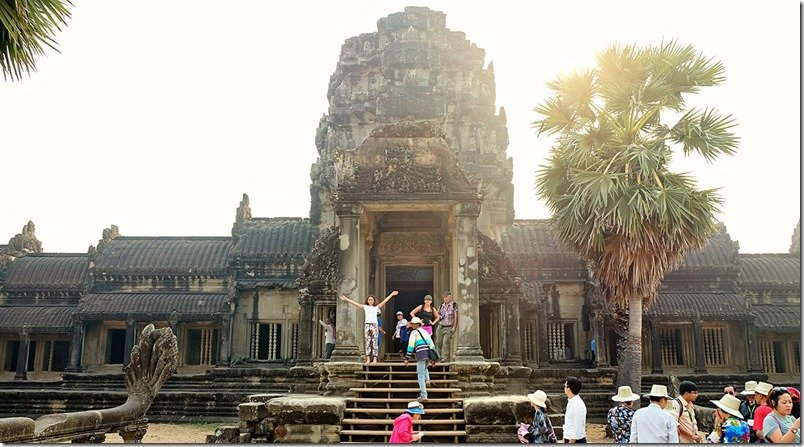 Angkor Wat Temple With Kids Pictures