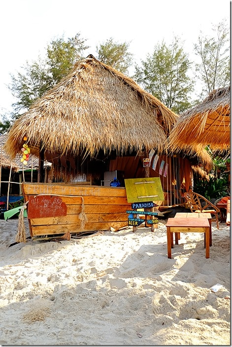 Beach Bar on Otres Beach Cambodia
