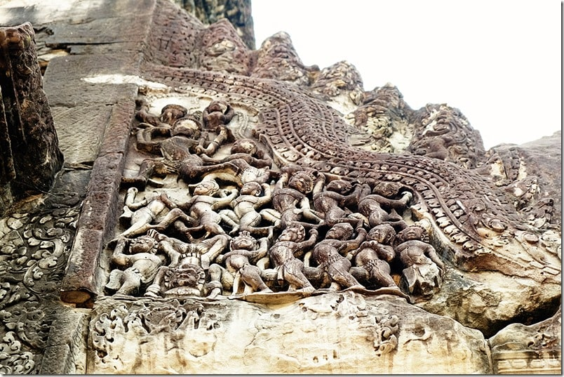 Close up of Carvings of Angkor Wat Temple