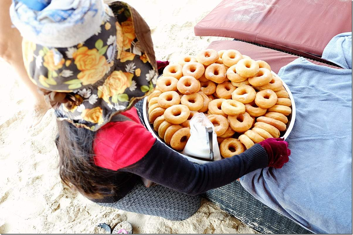 Delicious fresh donuts on Otres Beach Cambodia