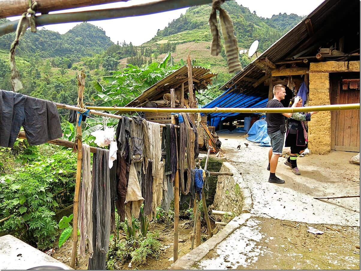 Dying Clothes in Ban Pho Village Vietnam