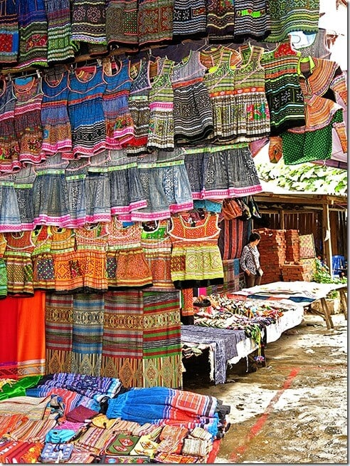 Hmong dresses for sale at the Bac Ha Markets