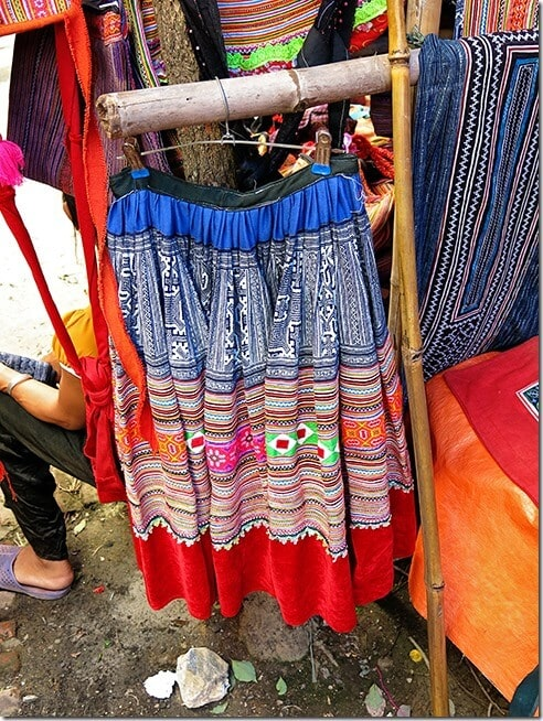 Hmong outfits and dresses at the Bac Ha Markets, Vietnam