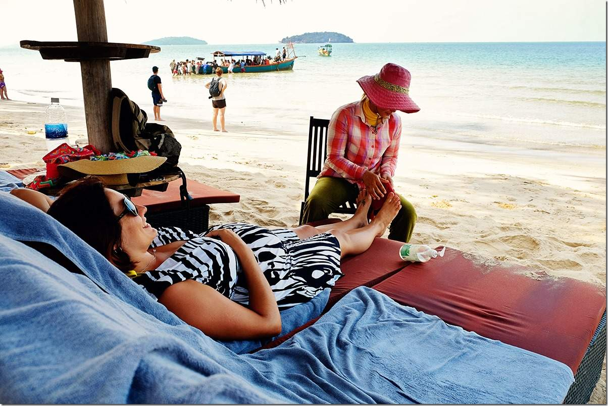 Massages on Otres Beach Cambodia