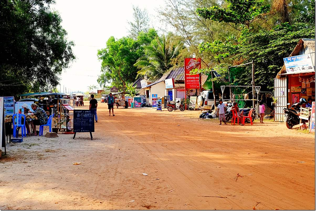 Red Dusty Road at Otres Beach Cambodia
