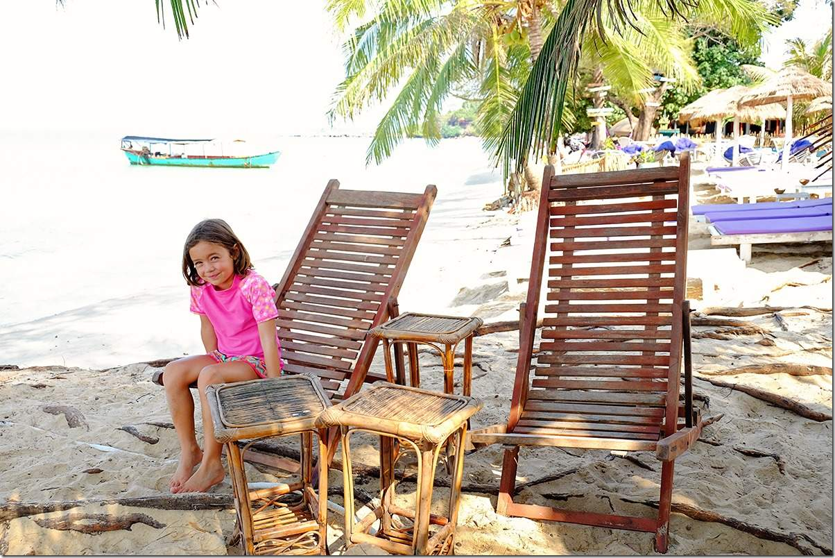 Rustic Beach Bungalow furniture on Otres Beach Cambodia