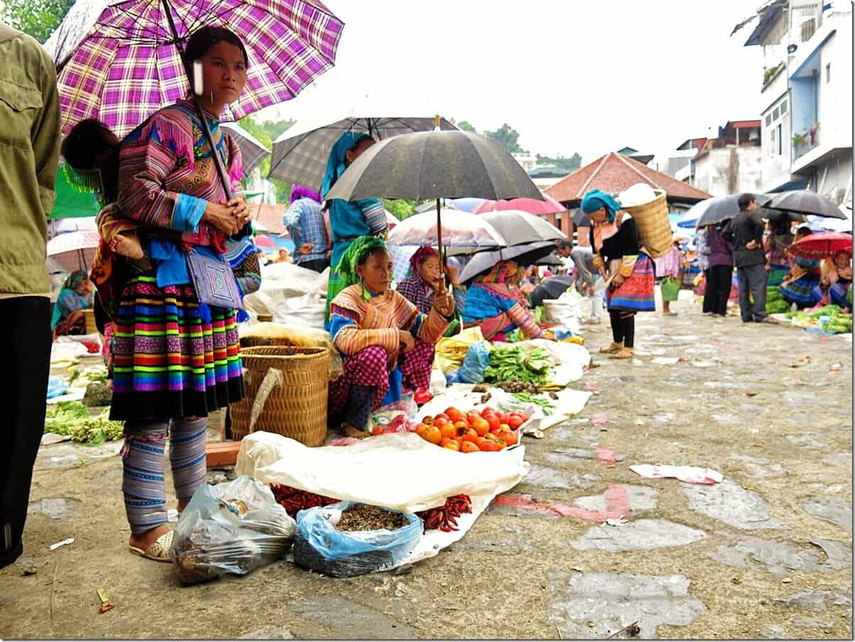 Vietnam Markets - Rainy Bac Ha Markets