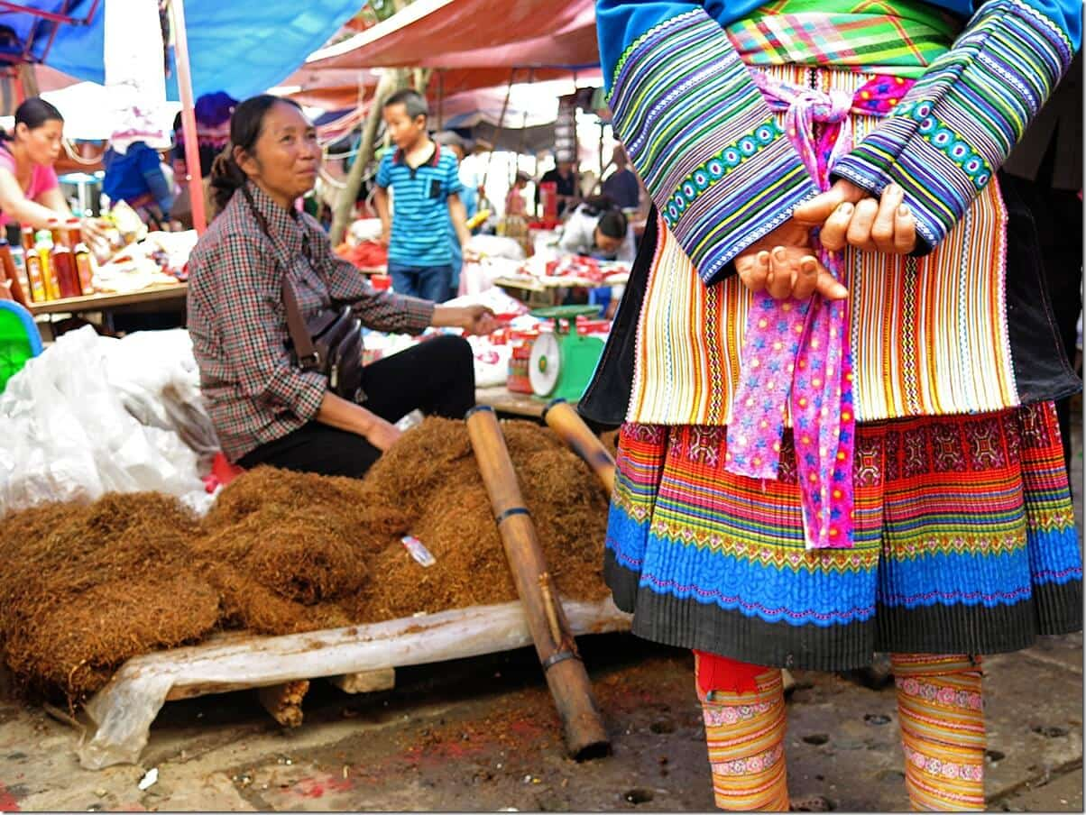 Vietnam Markets - Tobacco at Bac Ha Markets