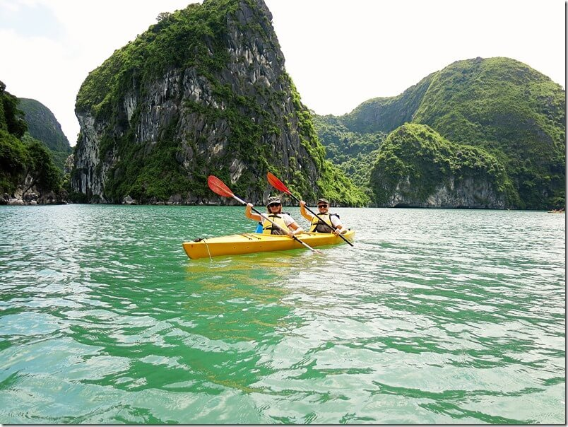 Halong Bay Canoe explorations with Indochina Sails