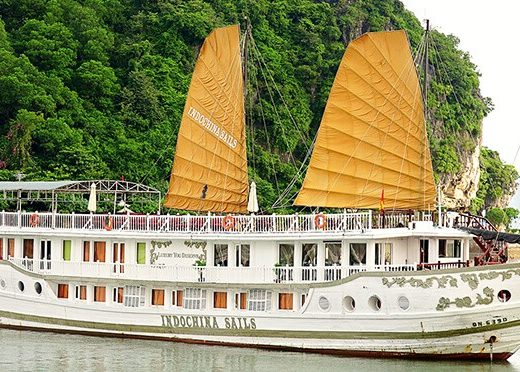 Indochina Sails Junk Cruise on Halong Bay, Vietnam