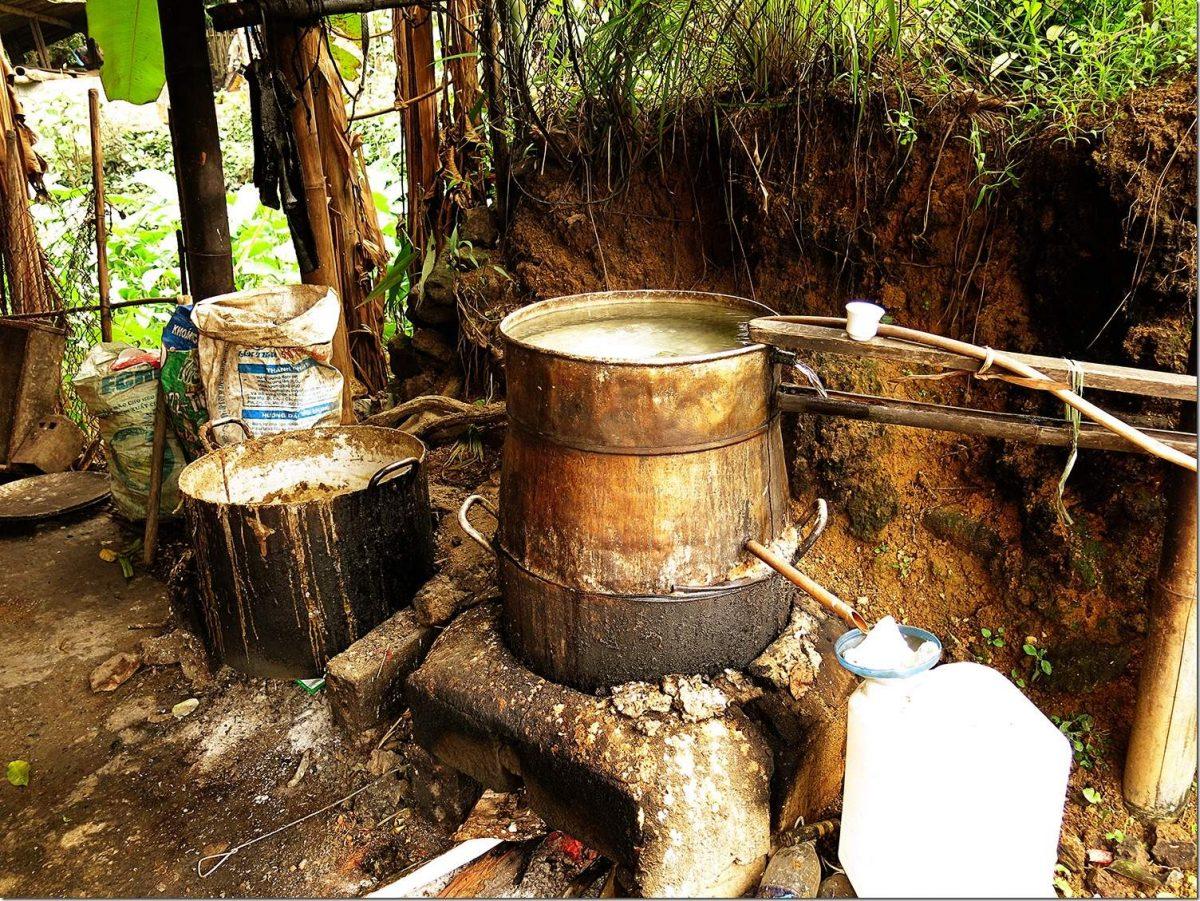 Rice Wine in Vietnam Sapa Valley