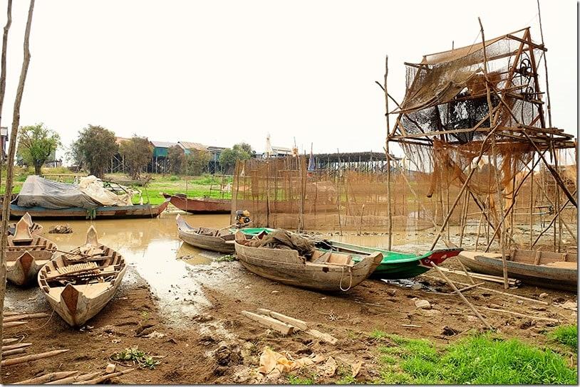 Kampong Khleang Floating Fishing Village on Tonle Sap