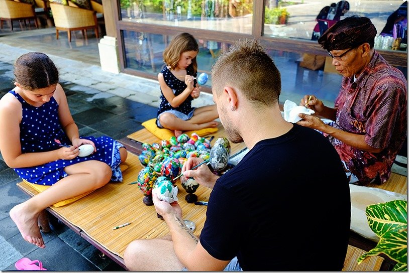 Jimbaran Bali Puri Egg Painting Class