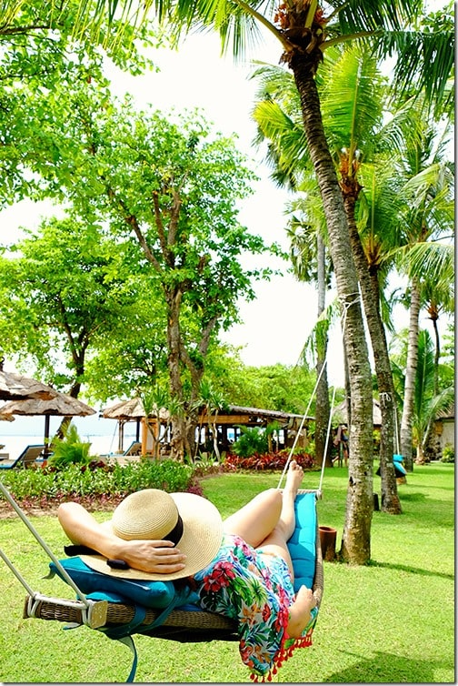 Relaxing at Belmond Jimbaran Puri Bali Resort