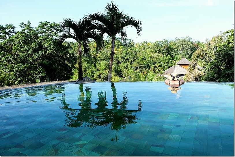Ubud Resort with an infinity pool
