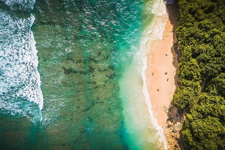 Where to go in South Bali: Green Bowl Beach