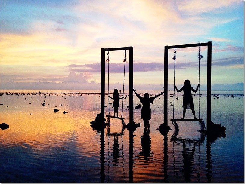 Gili Trawagan Sunset at Swings