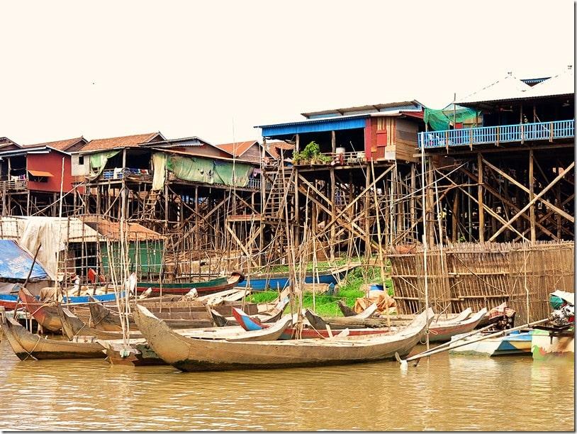 Kampong Khleang Floating Fishing Village Cambodia