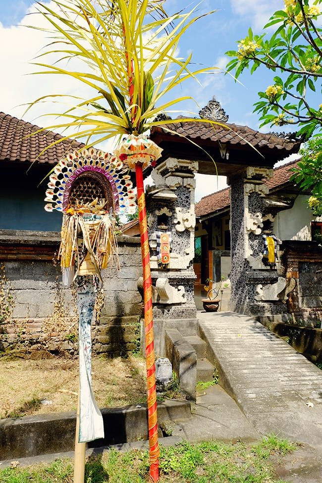 Traditional Balinese Home Entrance