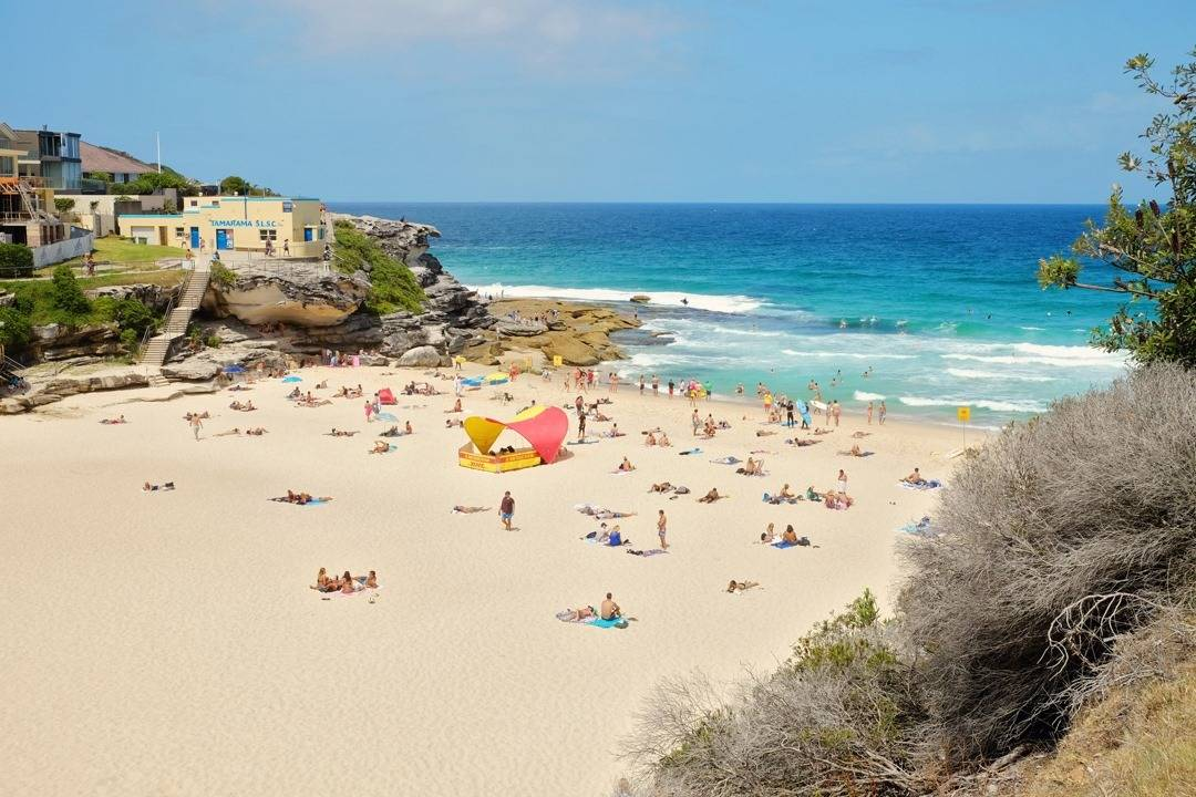 Tamarama Beach along the Bondi to Coogee Beach Coastal Walk