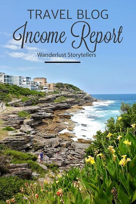 Travel Blog Income Report Feb