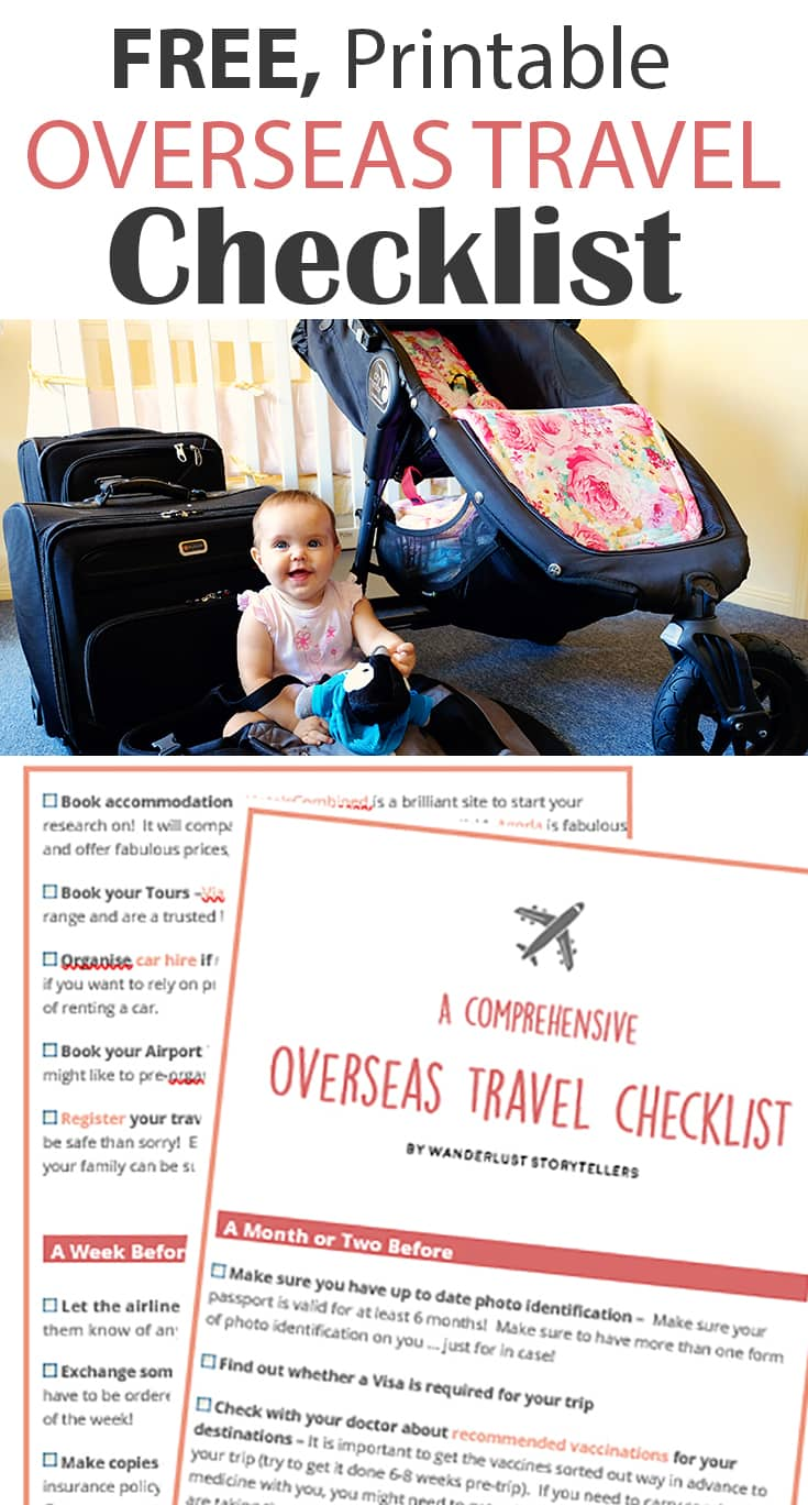 A Comprehensive Overseas Travel Checklist | Free Printable Travel Checklist