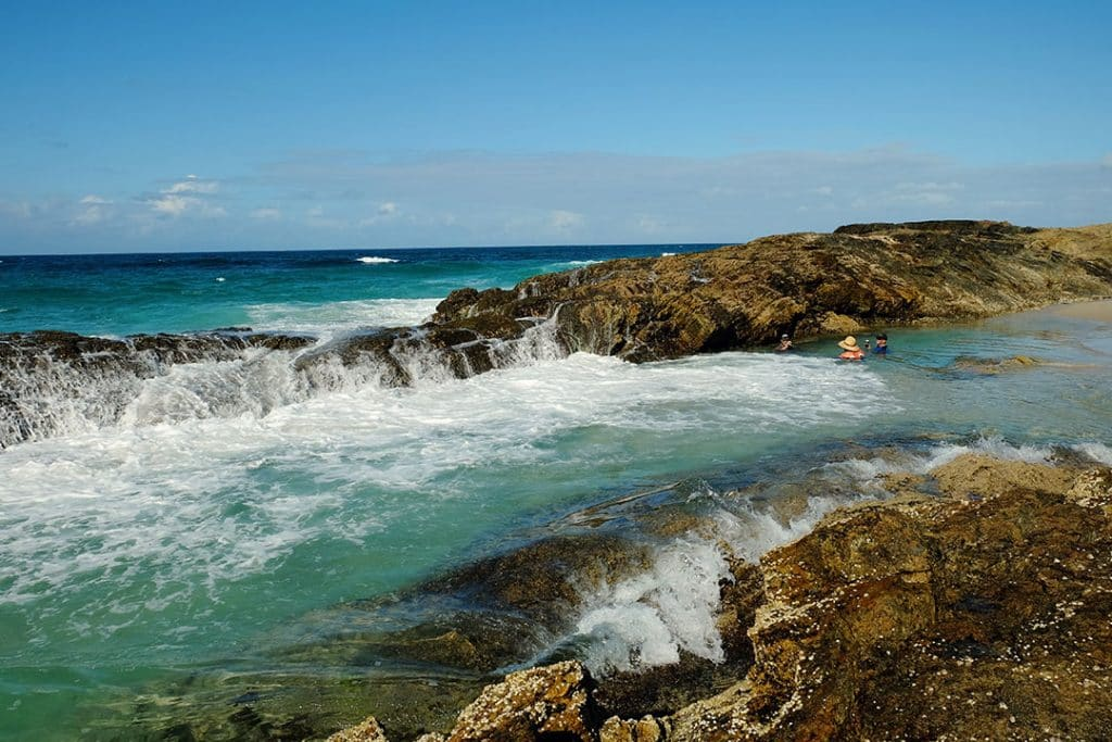 Champagne Pools Moreton Island