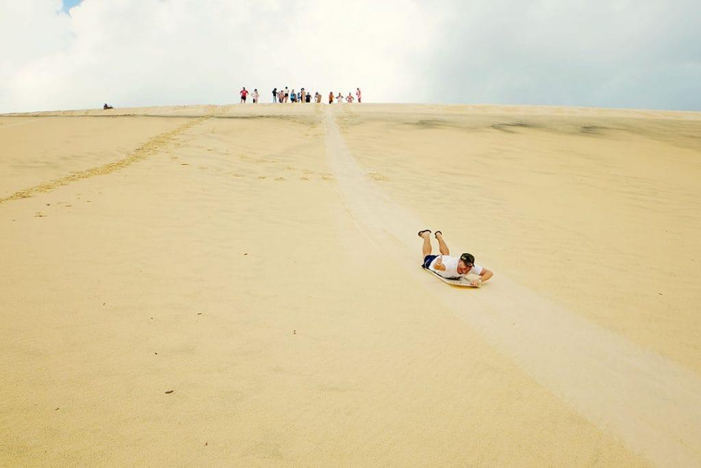 Sand Tobogganing Moreton Island
