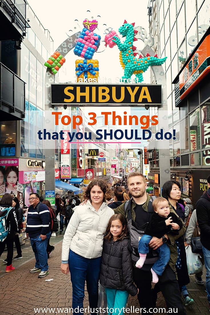 Things to do in Shibuya and Harjuku | Visit the top 3 attractions! The Shibuya Crossing, Meiji Shrine and Takeshita Dori Street in Harajuku!  One of the busiest districts in Tokyo!