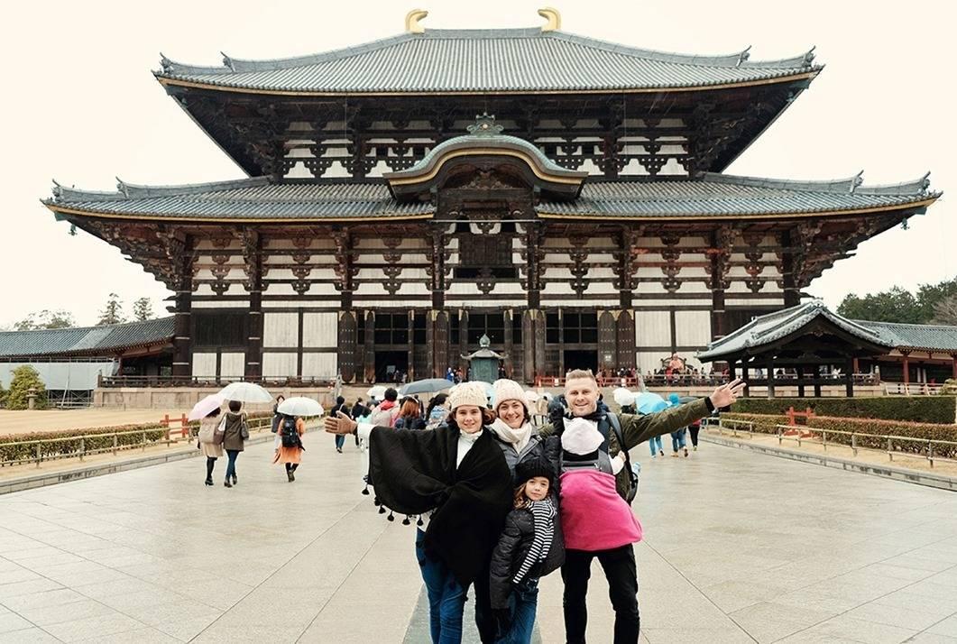 Temples at Nara Park Japan