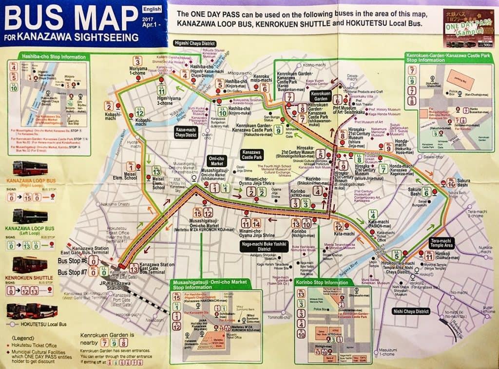 Kanazawa Bus Loop Map