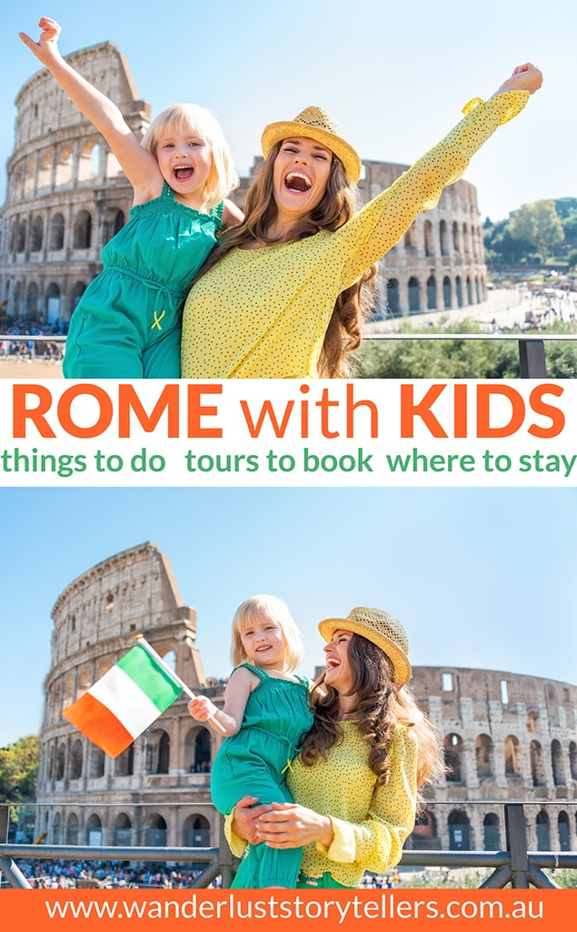 The ultimate guide to traveling to Rome with kids! Top 10 things to do in Rome with kids - Best family hotels in Rome & Rome family tours. Click to read the post!