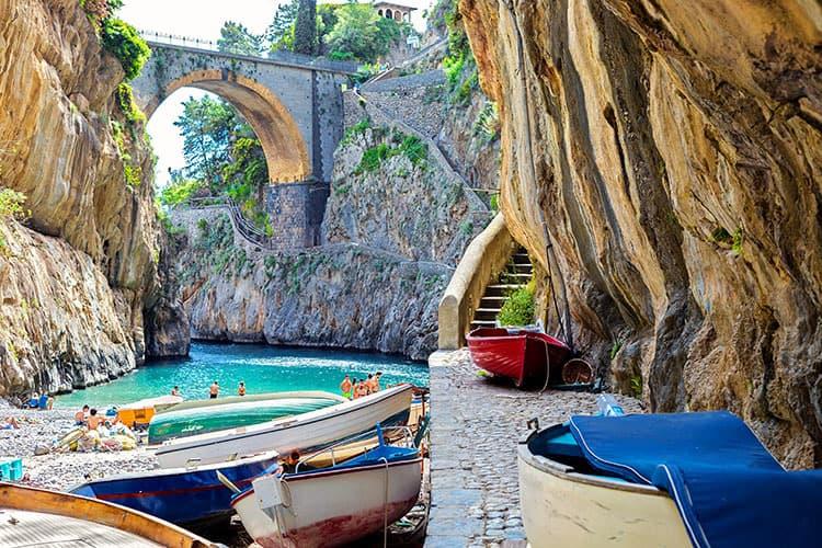 Fiordo di Furore beach - Best beaches Amalfi Coast