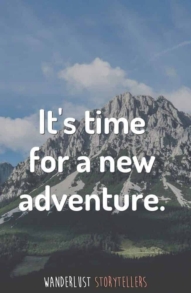 It's time for a new adventure.
