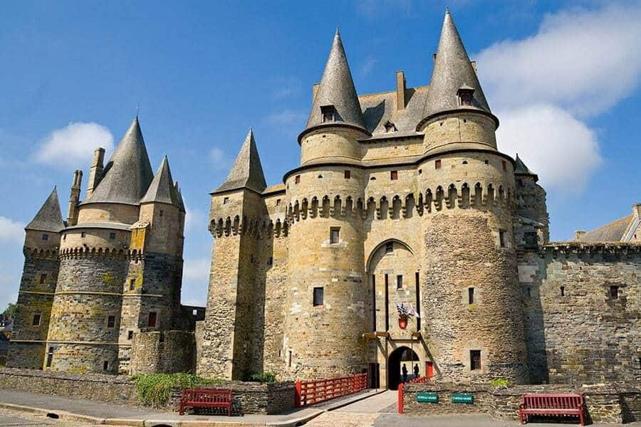 Medieval castle in Vitré, Brittany, France
