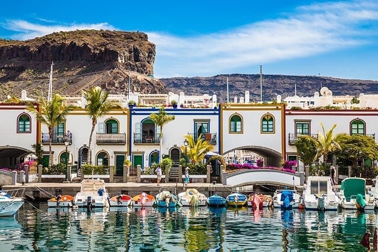 Port In Puerto de Mogan, Gran Canaria, Spain