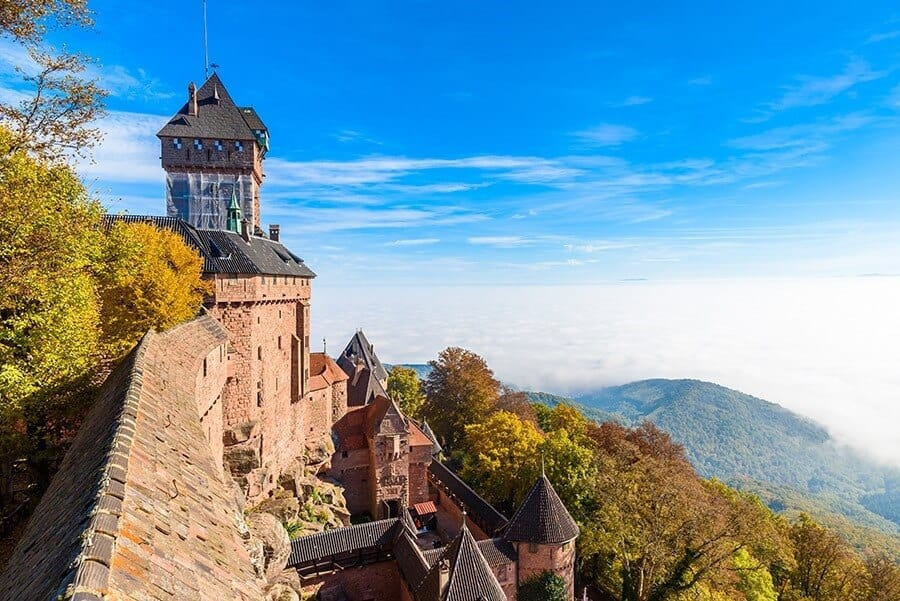 Haut-koenigsbourg - old castle in beautiful Alsace region of France near the city Strasbourg